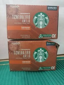 Starbucks Breakfast Blend Medium Roast Coffee Keurig 30 K-Cu