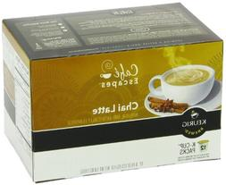 Cafe Escapes Chai Latte, K-Cup Portion Pack for Keurig Brewe