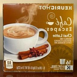 Cafe Escapes Cafe Chai Latte Coffee  16 Keurig K-Cups Pods G