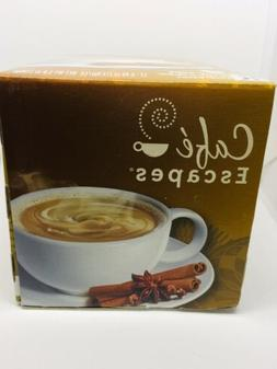 Keurig Cafe Escapes Chai Latte Coffee Beverage Mix K Cups 12
