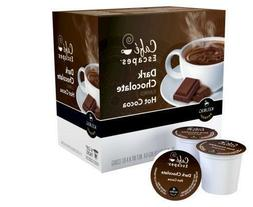 Cafe Escapes Dark Chocolate Hot Cocoa Keurig K-Cups 16 Count