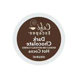 Cafe Escapes Dark Chocolate Hot Cocoa, Keurig K-Cup Pod, 96