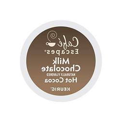 Cafe Escapes Milk Chocolate Hot Cocoa, Keurig K-Cups, 72 Cou