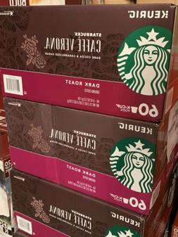 Starbucks Cafe Verona Dark Roast Coffee Keurig K-Cups 60 Cou