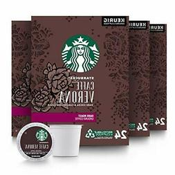 Starbucks Cafe Verona Dark Roast K-cups case