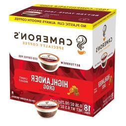 Cameron's Highlander Grog Coffee 18 to 90 Keurig K cups Pick