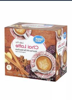 Chai Latte Tea 18 Single Serve K-Cups For Keurig by Great Va