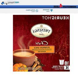 Twinings Chai Pumpkin Spice Black Tea Keurig 18 k-cups