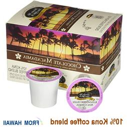 Hawaiian Isles Kona Coffee CHOCOLATE MACADAMIA K-Cups Single
