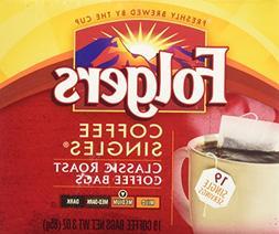 Folgers Classic Roast Coffee Singles - 19 PK