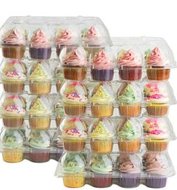 Cake Shield Clear Cupcake Boxes  Premium Cup Cake Carrier Co