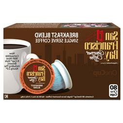 San Francisco Bay Breakfast Blend Coffee 80  K-Cups