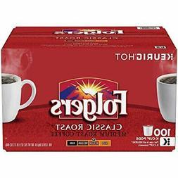 Folgers Coffee Classic Medium Roast K Cups Folger Kcups 100