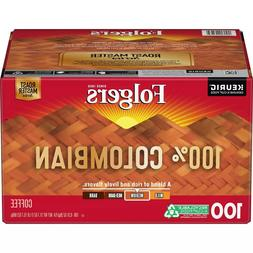 Folgers Coffee 100% Colombian Medium Dark Roast 100 K-Cups F