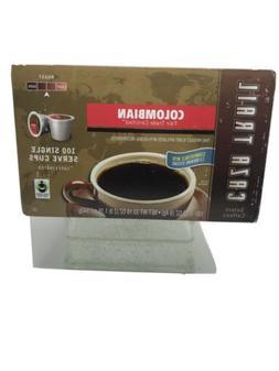 CAZA TRAIL COFFEE COLOMBIAN FAIR TRADE 100CT SINGLE SERVE KC