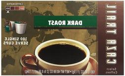 Caza Trail Coffee Dark Roast 100 Single Serve Cups 100 Count