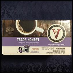 Victor Allen Coffee French Roast Single Serve K-cup 80 Count