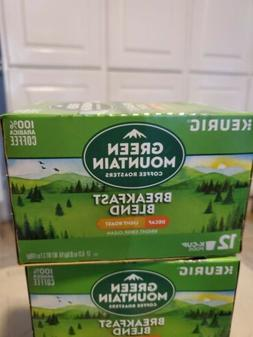 Green Mountain Coffee Keurig k-cups BREAKFAST BLEND DECAF LI