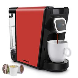 CHULUX Coffee Maker,Single Serve Pods & Ground Coffee with D