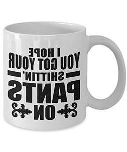 Coffee Mug Walking Dead - Pants On Quote 11oz or 15oz Cerami