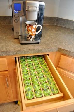 Coffee Pod Storage Organizer Made in America Insert for Draw
