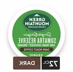 Green Mountain Coffee Sumatra Reserve, K-Cups, Dark Roast, 7