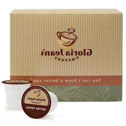 Gloria Jean's Coffees, Butter Toffee, 24-Count K-Cup Portion