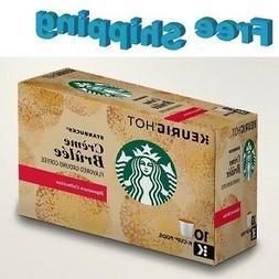 Starbucks Creme Brulee Flavored Coffee K Cups Keurig 10 ct
