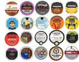 20 K Cup Variety Pack - Light and Medium Coffees Only - No F