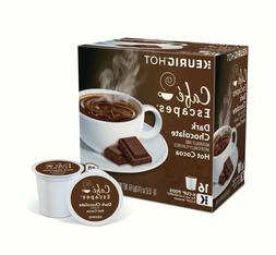 Cafe Escapes Dark Chocolate Hot Cocoa 16 to 96 Keurig K cups