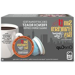 San Francisco Bay OneCup DECAF French Roast Coffee 80 or 160