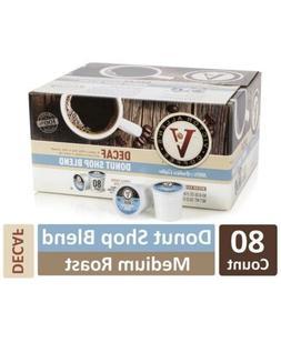 Victor Allen Donut Shop Blend Coffee Keurig K Cups 80 Ct Med