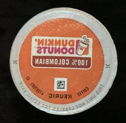 Dunkin Donuts 100% Colombian Coffee K-Cups 96 Count BB 7/26/