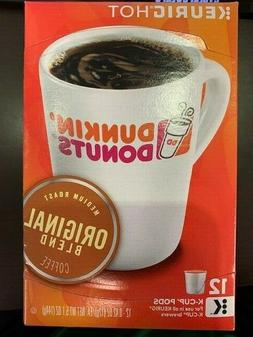 Dunkin Donuts Coffee K-Cups 12 Pack Original and French Vani