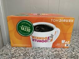 Dunkin Donuts Medium Roast Decaf 54 K Cups New in Damaged Bo