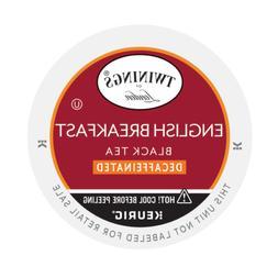 Twinings English Breakfast Tea Single-Serve K-Cups, Decaffei