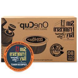San Francisco Bay OneCup Espresso Roast Coffee 80 to 320 Keu