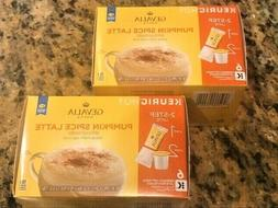 FREE SHIP 2 BOXES GEVALIA PUMPKIN SPICE LATTE K-CUP & FROTH