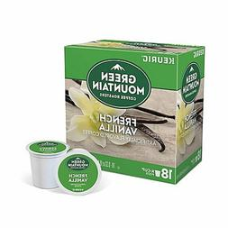 Green Mountain French Vanilla Coffee 18 to 144 Count Keurig