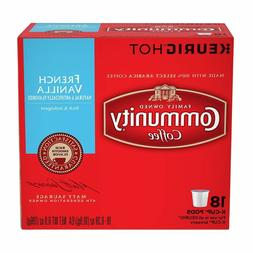 Community Coffee French Vanilla Coffee 18 to 108 Keurig K cu