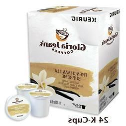 Gloria Jean's French Vanilla Supreme Coffee, K-cups, 24 ea