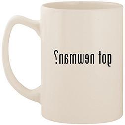 got newman? - White 14oz Ceramic Statesman Coffee Mug Cup