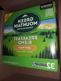 Green Mountain Coffee Breakfast Blend Keurig 32 K-Cups Singl
