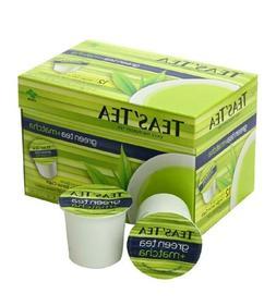 Teas' Tea Green Tea Plus Matcha, Single Serve Cups 12 Count