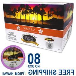 Hawaiian Isles Kona Coffee Co CLASSIC MEDIUM 80 K-Cups Singl