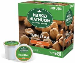Green Mountain DECAF Hazelnut Coffee 18 to 144 Count Keurig