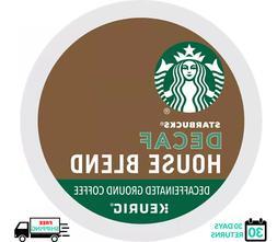 Starbucks House Blend DECAF Keurig Coffee K-cups YOU PICK TH