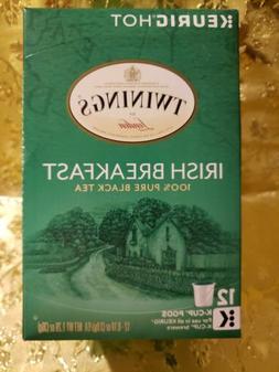 Twinings Irish Breakfast Black Tea Keurig 12 k-cups .Exp.04/