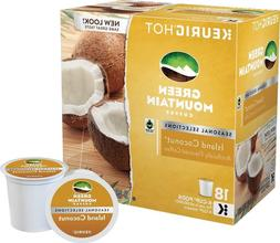 Green Mountain Island Coconut Coffee 18 to 108 Keurig K cups