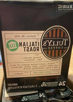 Tully's Italian Roast Coffee, K-cups, 24 ea